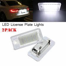 Audi A3 Led License Plate Lights 2pcs Car New Led For Audi A3 S3 A4 S4 Rs4 B6 B7 A6 A8 Q7 Rs6 License Plate Light Fittings 14v White Light A1387 19mar27