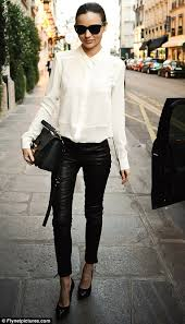 favourites miranda kerr regularly slips her pins into a pair of leather trousers
