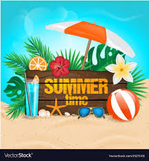 summer background tropical summer background royalty free vector image