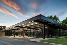 old architectural photography. FABG Architectes Converted This Old Mies Van Der Rohe Gas Station Into A  Youth And Senior Architectural Photography