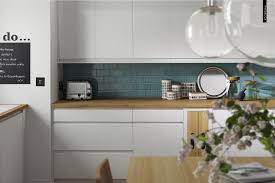 Gloss Kitchen Floor Tiles Contemporary Handle Less Gloss White Kitchen With Oak Accents