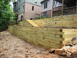 image of how to build a retaining wall on