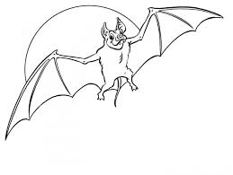 Small Picture Halloween Bat Coloring Pages Coloring Page For Kids Kids Coloring