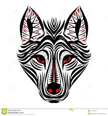 wolf face drawing tribal. Contemporary Wolf Download Wolf Face Tribal Tattoo Design Stock Vector  Illustration Of  Eyes Majestic 107621850 Inside Drawing D