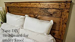 DIY Rustic Headboard for UNDER $100!