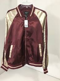 details about forever 21 mens track jacket burdy tan size large nwt 30