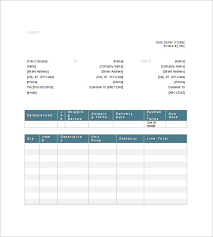 invoice template word generic invoice template 8 free sample example format