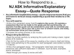 How To Write A Quote Stunning InformativeExplanatory Prompt Essay Based On A Quote Ppt Video