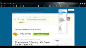 life insurance quotes over 50 companies offering life cover for 84 years old you