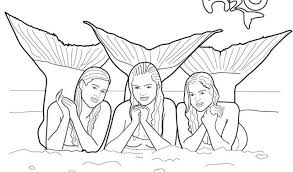 Small Picture Stunning H2o Mermaid Coloring Pages Ideas Coloring Page Design
