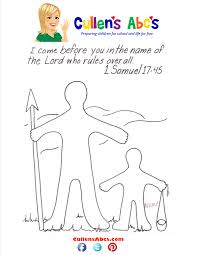 Bible Key Point Coloring Page David And Goliath Online Preschool