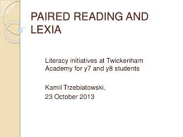 paired reading and lexia