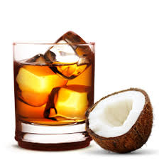 whiskey and coconut water! | Coconut shavings, Light rum, Wine and dine