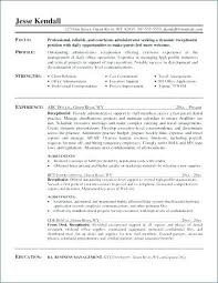 Sample Executive Assistant Resume Receptionist Resume Samples