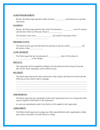 Writing up a loan agreement is an this site provides three different examples of loan templates. Free Loan Agreement Templates And Sample
