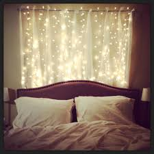 Headboard With Lovely Strings Of Lights Bedroom Decorations : A Lovely And  Beautiful Array Of Sparkling String Lights For Bedroom In Order To Pursue  The ...