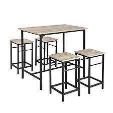 Sobuy Ogt11 N Set De 1 Table 4 Tabourets Ensemble Table De Bar