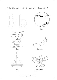 Our large collection of ela worksheets are a great study tool for all ages. Alphabet Picture Coloring Pages Things That Start With Each Alphabet Free Printable Kindergarten Worksheets Megaworkbook