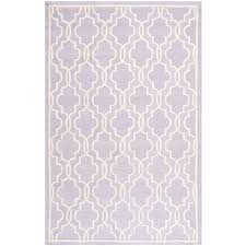 safavieh cambridge lavenderivory  ft x  ft area rugcamc