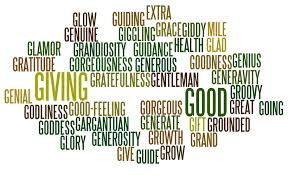 fancy word for green positive words that start with g