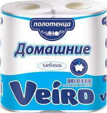 """<b>Полотенца бумажные Veiro</b> """"<b>Домашние</b>"""", двухслойные, 2 рулона ..."""