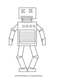 Small Picture Robot Colouring Pages