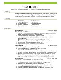 Hotel General Manager Resume Template Cool Hotel General Manager Resume Template Lezincdc