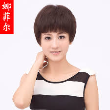 Buy Free Shipping New Short Hair Wig Girls Elderly Mom Real Hair Wig