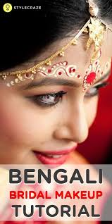 bengali bridal makeup is not so easy to apply and takes a bit of effort in following a sequence here is an amazing post which lets you take a step by step
