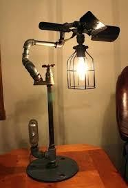 diy steampunk floor lamp steampunk lamp industrial steampunk lamp brass steel pipe fan blade wire cage diy steampunk floor lamp