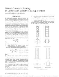 Design Of Lacing And Battens Pdf Effect Of Compound Buckling On Compression Strength Of