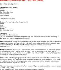Sample Cover Letter Maintenance Worker