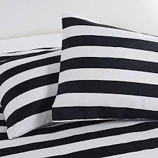 black white stripe duvet cover style