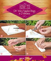 diy wire napkin rings for a fall wedding a wedding craft by bellenza
