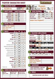 character sheet pathfinder where can i find pre made iconic character sheets pathfinder