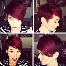 short hairstyles for women red pixie