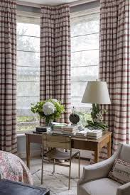 curtains for home office. Corner Home Office With Striped Curtains For A