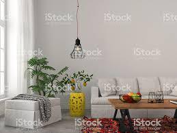 Moderne Wohnzimmer Mit Weißen Möbeln Und Kronleuchter