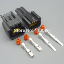 online get cheap ford ignition coil connector aliexpress com 5 30 100set 2 3mm 2pin female male ignition coil plug for ford high voltage auto wire connector fw c 2f b fw c 2m b
