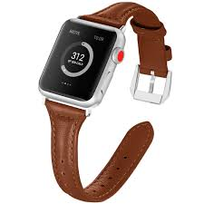 exchar compatible for leather apple watch band 38mm 40mm wo cargando zoom