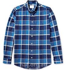 steven alan men s blue masters on down collar checked brushed cotton shirt te113e25da cal shirts