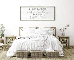 if i lay here bedroom signs above bed