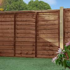 4 x 6 pressure treated lap garden fence