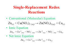 15 single replacement redox reactions