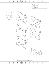 Small Picture Number 5 coloring page Lesson 15 AIW Home School Club