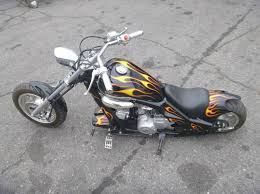 2006 mini chopper black with flames