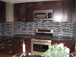 full size of alluring black and brown backsplash wooden kitchen cabinet with grey glass mosaic tiled