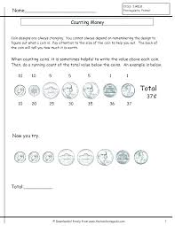 Grade Coin Worksheets Kids Counting Money For Nickels And Mixed ...