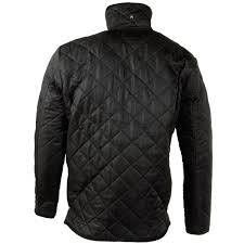 mens raiken diamond quilted cord trim jacket zip