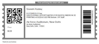 Concert Ticket Layout